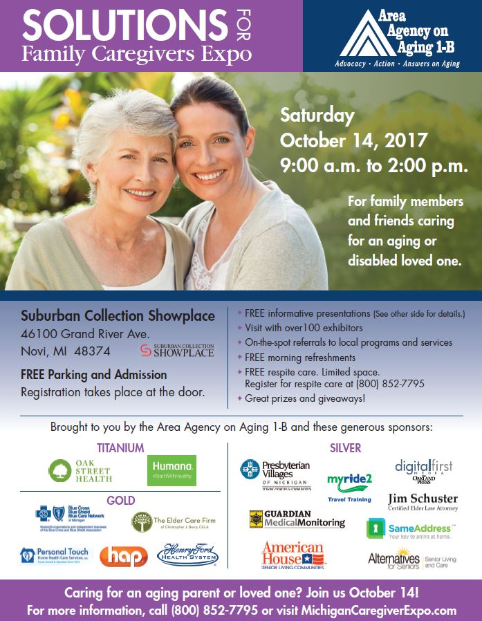 Area Agency on Aging Solutions for Family Caregivers Expo – Michigan