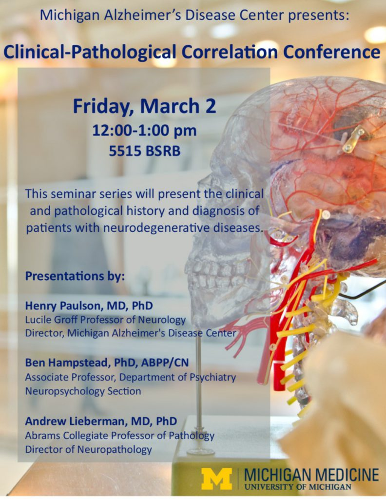 Clinical Pathological Correlation Conference Michigan Alzheimers